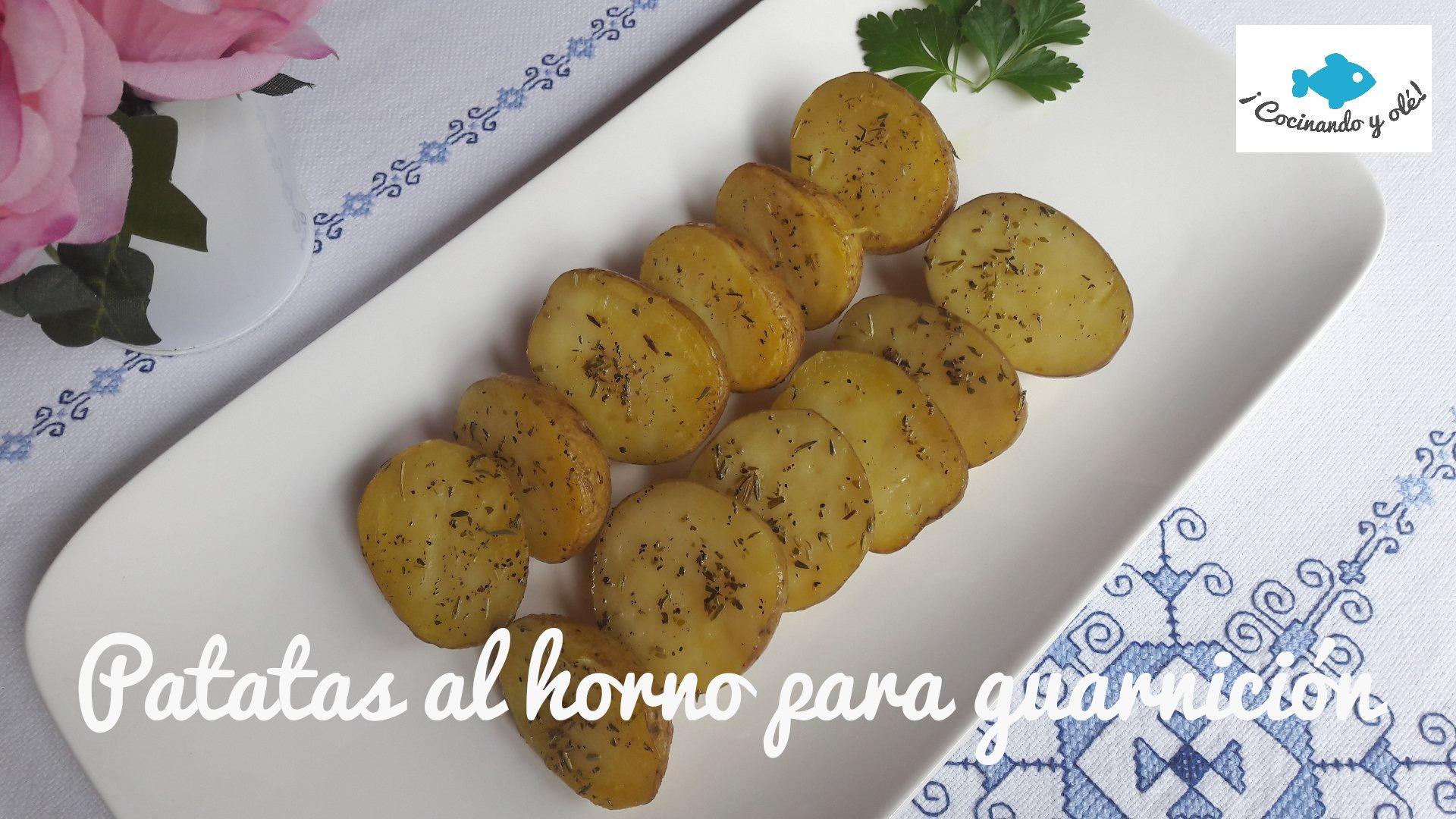 patatas ligeras al horno para guarnición